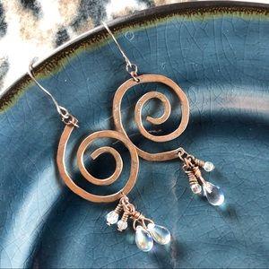 Boutique | Vintage Swirl Dangle Earrings